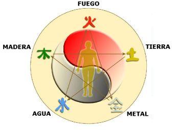 Els 5 elements bàsics en la medicina tradicional. Creuen que s'han de tenir tots aquests elements en hermonia per poder gaudir de la vida.