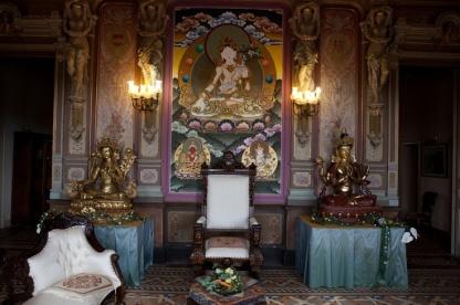 Panoramica del Monasterio Budista del Garraf y la Estupa Namgyal