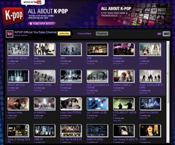 Pàgina de Youtube dedicada al K-Pop