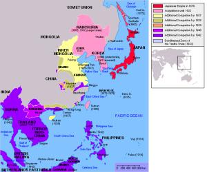 Mapa del Imperio japonés